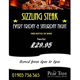 SIZZLING STEAK & WINE EVENING